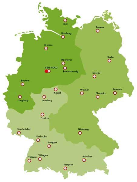 FDU Standorte Deutschland